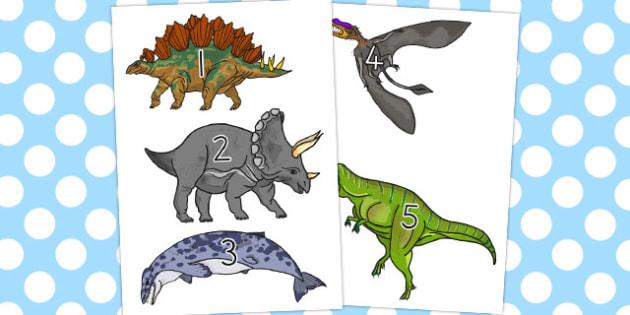 Realistic Dinosaurs Stick Puppets 1-10 - australia, dinosaur