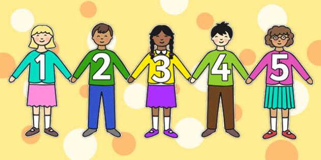 Numbers 0-10 on Children - numbers, 0-10, children, display