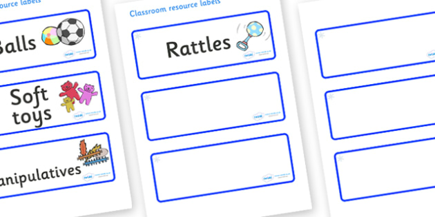 Snowflake Themed Editable Additional Resource Labels - Themed Label template, Resource Label, Name Labels, Editable Labels, Drawer Labels, KS1 Labels, Foundation Labels, Foundation Stage Labels, Teaching Labels, Resource Labels, Tray Labels, Printabl