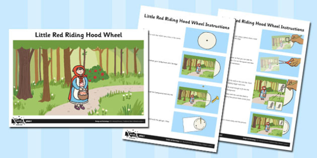 Activity Sheet Little Red Riding Hood Wheel - activity, wheel, worksheet