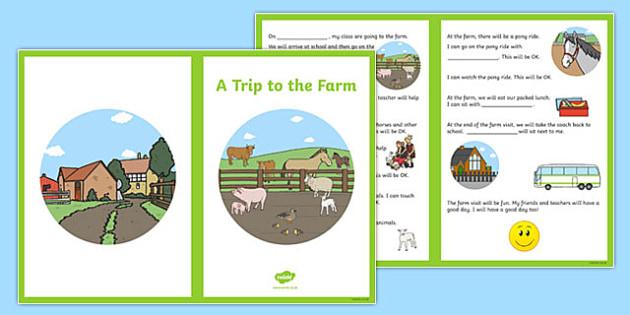 A Trip to the Farm Social Stories