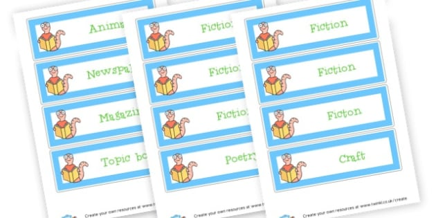 Book Corner Labels - Reading Area Primary Resources, signs, area, zones, banner, poster