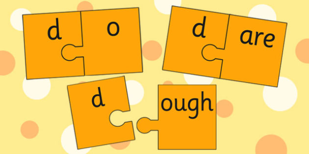 d and Vowel Production Jigsaw Cut Outs - d sound, sounds, jigsaw
