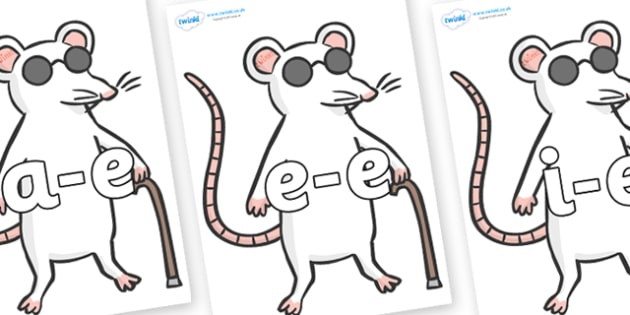 Modifying E Letters on Blind Mice - Modifying E, letters, modify, Phase 5, Phase five, alternative spellings for phonemes, DfES letters and Sounds