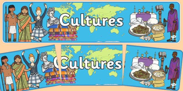 Cultures Display Banner - cultures display banner, cultures, culture, different, display, banner, sign, poster, beliefs, countries, world