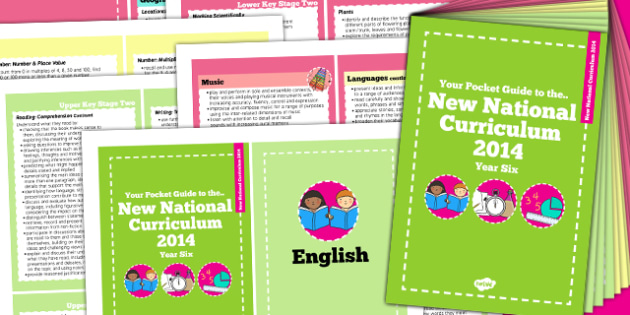 2014 Curriculum Cards Year 6 Core And Foundation Subjects