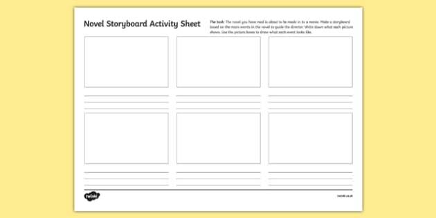 Novel Storyboard Activity Sheet-Irish, worksheet