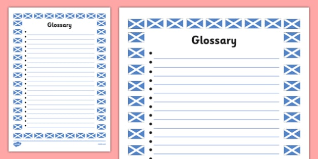 My Scottish Fact File Glossary Template - cfe, fact file, template, scottish, glossary