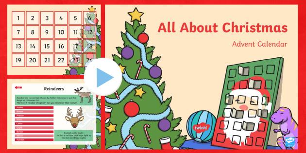 Christmas Facts Advent Calendar PowerPoint
