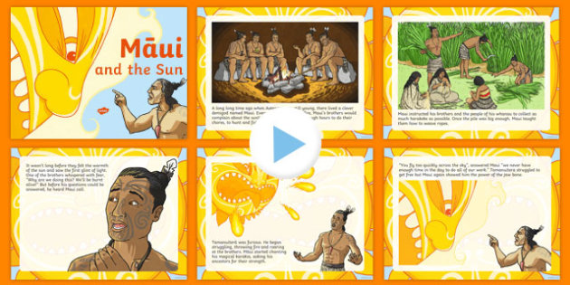 Māui and the Sun PowerPoint