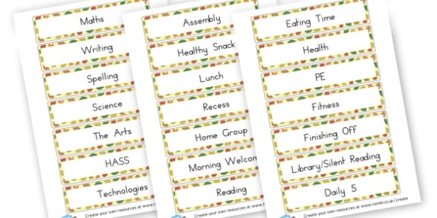 Time Table - Visual Timetables Primary Resources, visual, timetables, routine