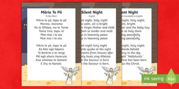Mārie te pō Silent Night Song Lyrics