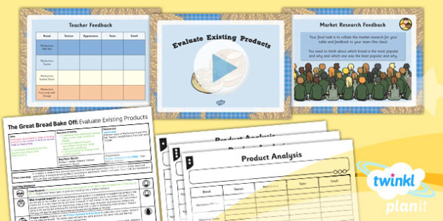 PlanIt - D&T LKS2 - The Great Bread Bake Off Lesson 2: Evaluate Existing Products Lesson Pack