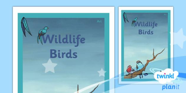 PlanIt - Art UKS2 - Wildlife Unit Book Cover - planit, book cover, art, uks2, wildlife