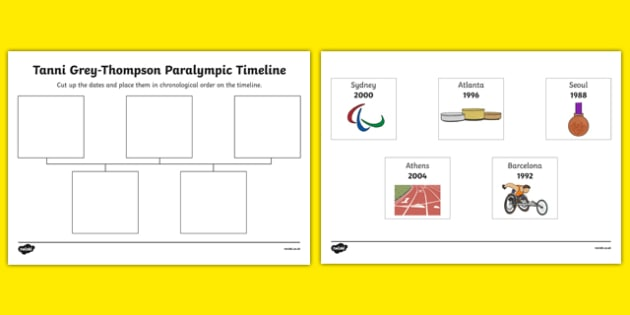 Tanni Grey Thompson Paralympic Timeline - tanni grey thompson, paralympics, timeline
