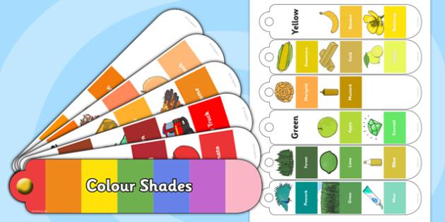 Colour Shades Fan Book - colour shades, colour, shades, colour wheel, colour theory, fan book