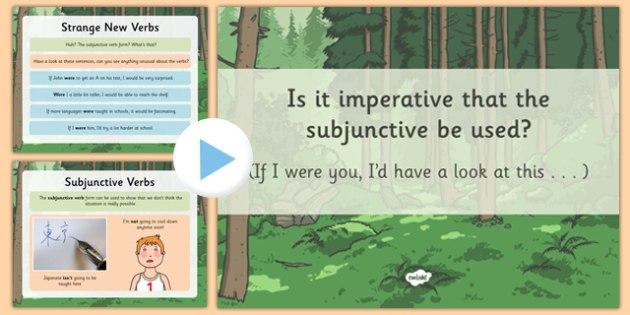 Subjunctive Form - subjunctive form, powerpoint, subjunctive verb