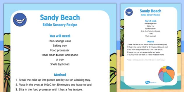 Sandy Beach Edible Sensory Recipe