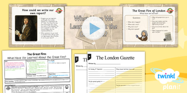 PlanIt - History KS1 - The Great Fire of London Lesson 6: What Have We Learned? Pack