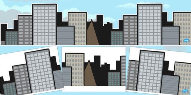 Large Skyline Display - large, skyline, display, background