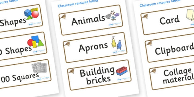 Lark Themed Editable Classroom Resource Labels - Themed Label template, Resource Label, Name Labels, Editable Labels, Drawer Labels, KS1 Labels, Foundation Labels, Foundation Stage Labels, Teaching Labels, Resource Labels, Tray Labels, Printable labe