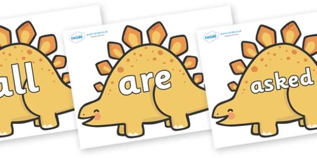 Tricky Words on Stegosaurus Dinosaurs - Tricky words, DfES Letters and Sounds, Letters and sounds, display, words