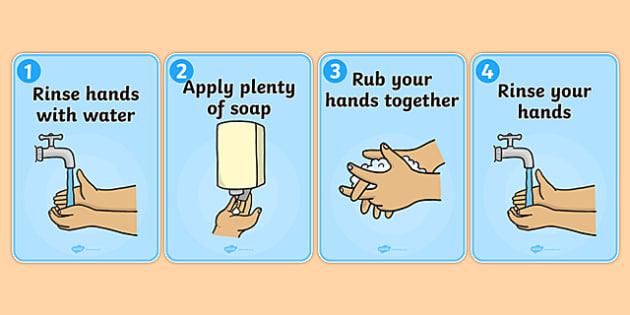 How to Wash Your Hands Display Posters - health, hygene, washing