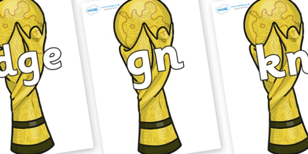 Silent Letters on World Cup Trophy - Silent Letters, silent letter, letter blend, consonant, consonants, digraph, trigraph, A-Z letters, literacy, alphabet, letters, alternative sounds