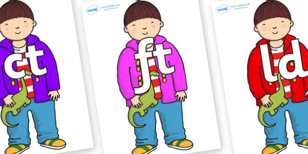 Final Letter Blends on Harry to Support Teaching on Harry and the Bucketful of Dinosaurs - Final Letters, final letter, letter blend, letter blends, consonant, consonants, digraph, trigraph, literacy, alphabet, letters, foundation stage literacy