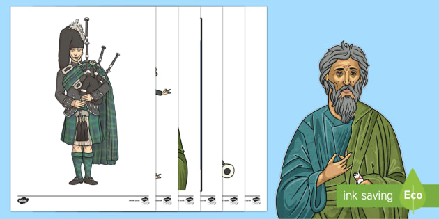 Saint Andrew's Day Display Cut-Outs