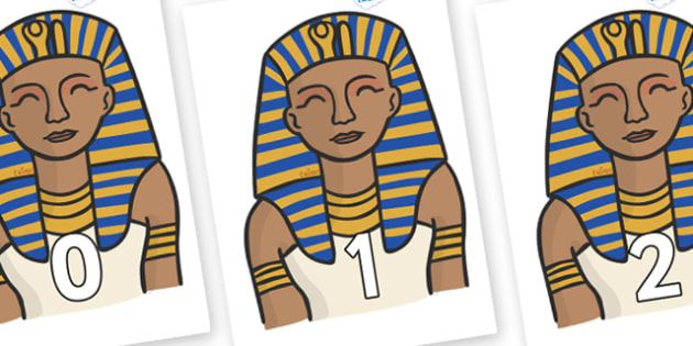 Numbers 0-100 on Pharaoh - 0-100, foundation stage numeracy, Number recognition, Number flashcards, counting, number frieze, Display numbers, number posters