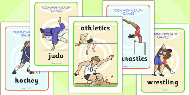 Commonwealth Games Display Posters - commonwealth, sport, posters