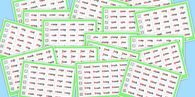 Phase 4 Initial Blends Roll and Read Mat Pack - phase 4, pack