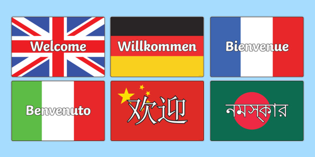 Mixed Languages Welcome Display Posters - welcome posters, welcome language posters, welcome in mixed languages, welcome on flags, languages, countries
