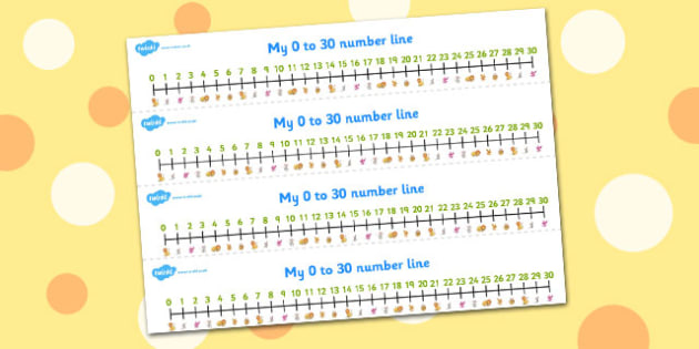 The Lion And The Mouse Number Lines 0-30 - number lines, 0-30