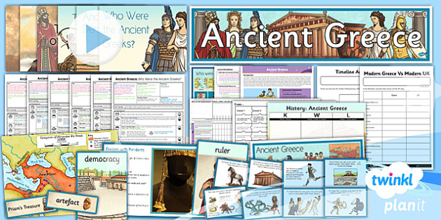 PlanIt - History UKS2 - Ancient Greece Unit Pack