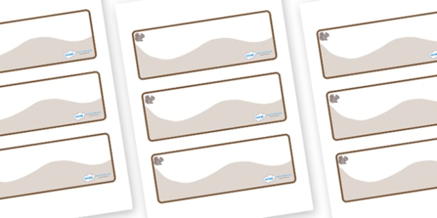 Squirrel Themed Editable Drawer-Peg-Name Labels (Colourful) - Themed Classroom Label Templates, Resource Labels, Name Labels, Editable Labels, Drawer Labels, Coat Peg Labels, Peg Label, KS1 Labels, Foundation Labels, Foundation Stage Labels, Teaching