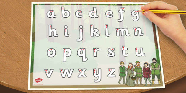Robin Hood Themed Letter Writing Worksheet - robin, hood, letter