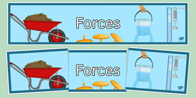 Forces Display Banner - forces, display banner, display, banner, science