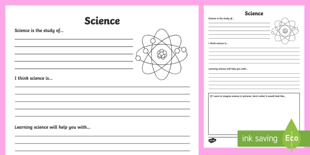 Science Reflection Writing Template