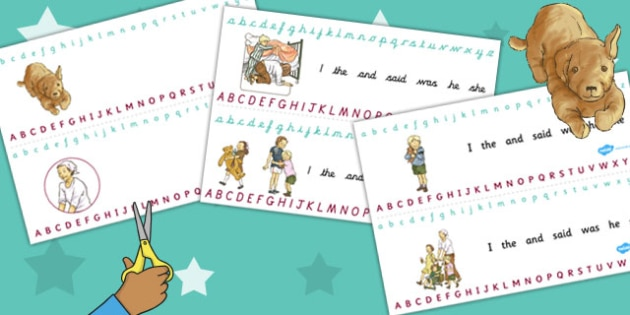 Alphabet Strips to Support Teaching on Dogger - visual, letters, lettering, literacy