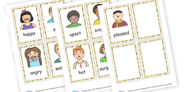 Emotions Cards - My Emotions Display Primary Resources, education, home school