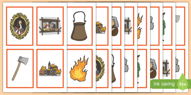 The Great Fire of London Snap Matching Cards