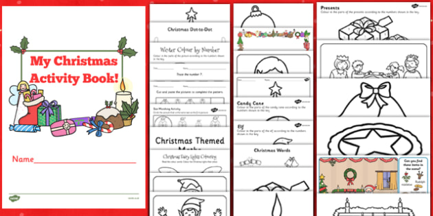 Christmas Activity Book - christmas, activity, book, holiday, christmas activity