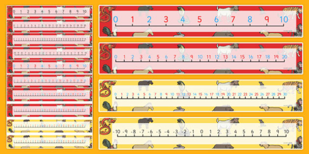 Chinese New Year Story Number Lines 0-20 - number line, chinese