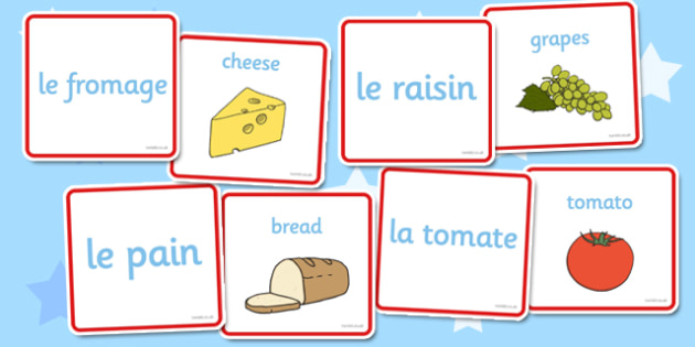 French Food Matching Cards - French, Food, Match, Cards, France
