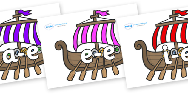Modifying E Letters on Viking Longboats - Modifying E, letters, modify, Phase 5, Phase five, alternative spellings for phonemes, DfES letters and Sounds