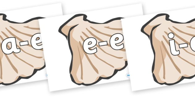 Modifying E Letters on Sea Shells - Modifying E, letters, modify, Phase 5, Phase five, alternative spellings for phonemes, DfES letters and Sounds