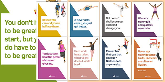 Sports Motivational Quotes Posters - sports, motivational quotes, posters, display, display posters