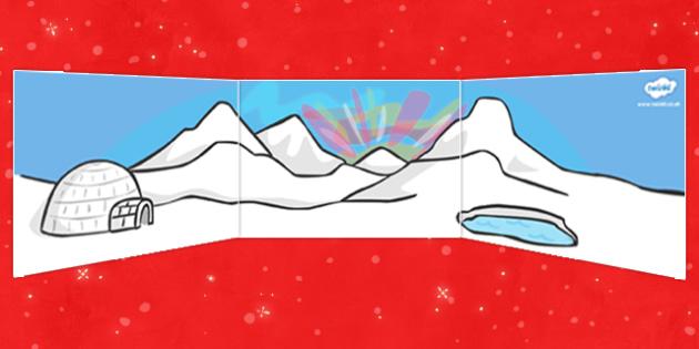 Self Registration Background (North Pole) - Self registration, background, desert, North Pole, polar, display, editable, label, topic, self registration